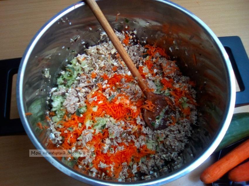 окрошка кефир рецепт, Окрошка с мясом