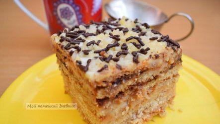 Торт медовый с орехами, домашний